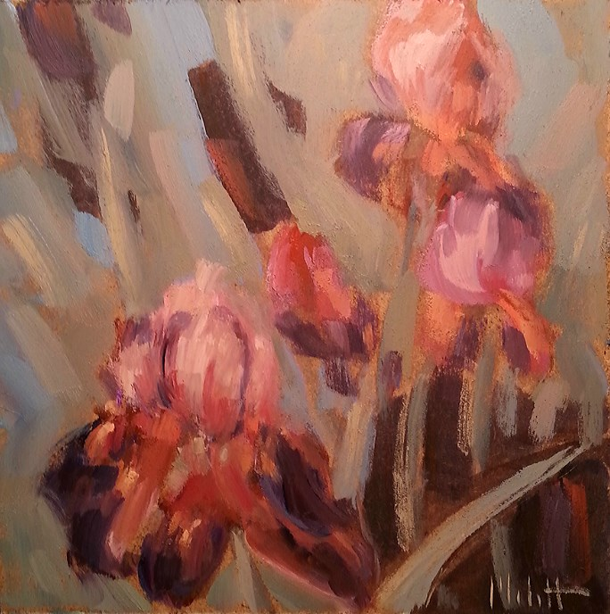 """Spring Iris Garden Jewels"" original fine art by Heidi Malott"