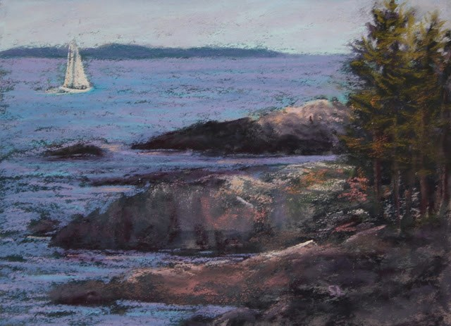 """Out to Sea"" original fine art by Sharon Lewis"
