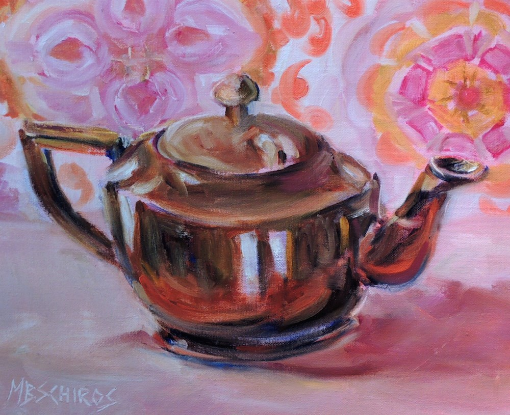 """Bright Tea"" original fine art by Mary Schiros"