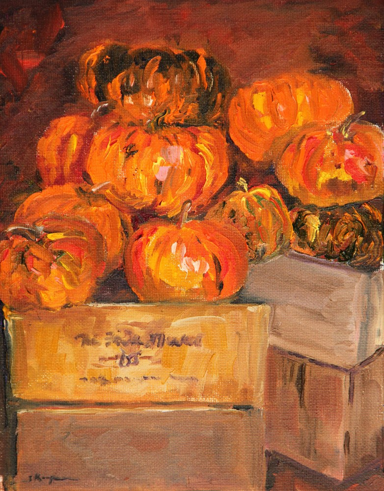 """Pumpkin Heaven"" original fine art by Shelley Koopmann"