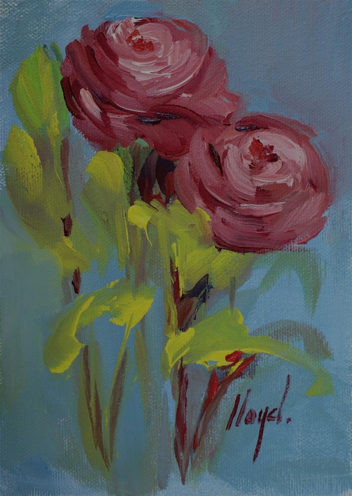 """""""Ranunculus"""" original fine art by Diane Lloyd"""