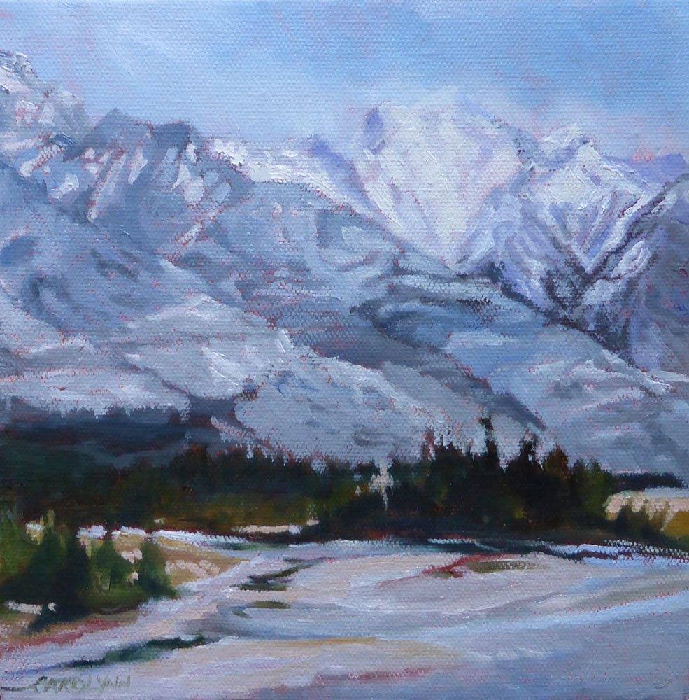 """""""On The Way To Calgary"""" original fine art by Carolynn Doan"""