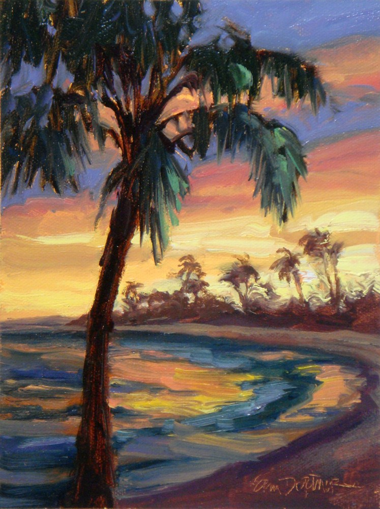 """Island Sundown"" original fine art by Erin Dertner"