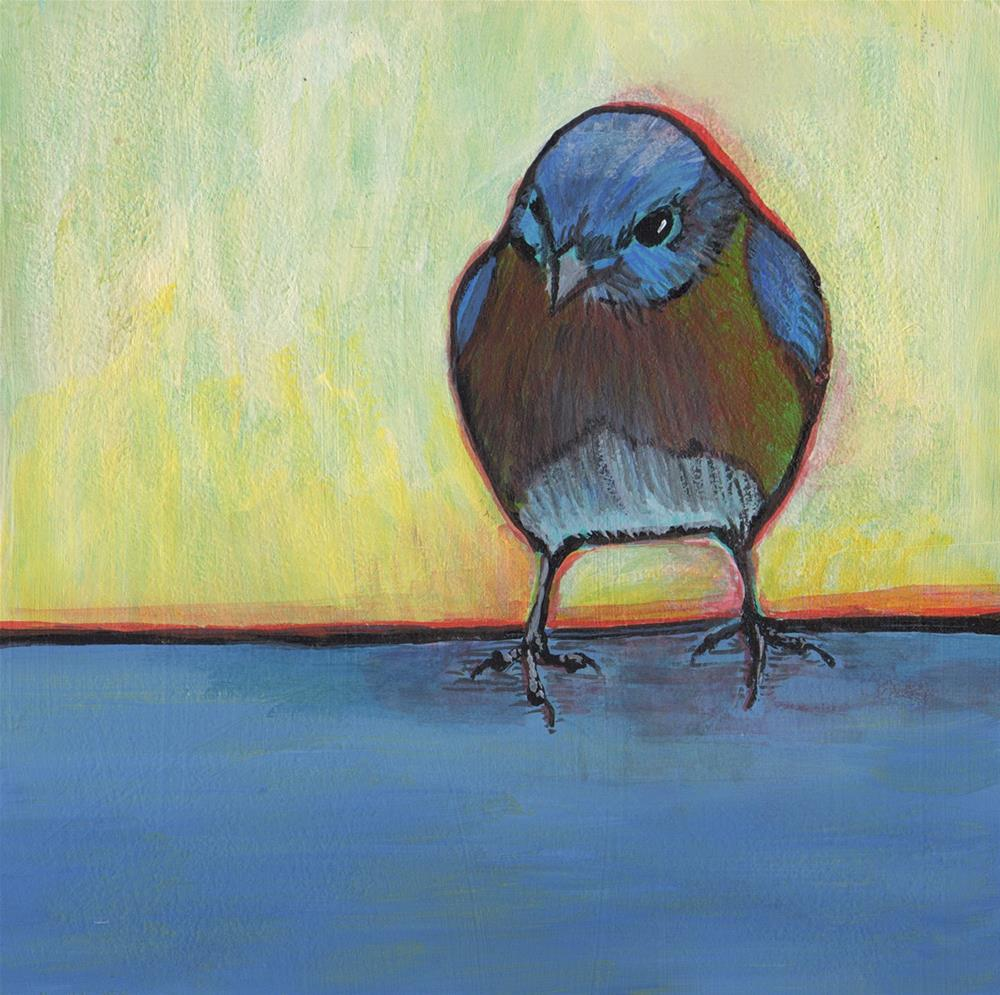 """Blue Bird"" original fine art by Judy Butler"