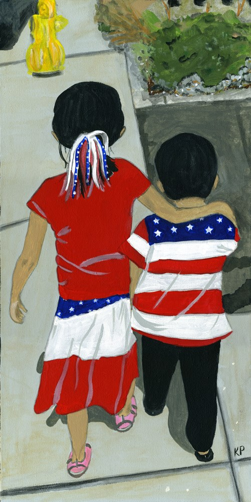 """Fourth of July"" original fine art by Kali Parsons"