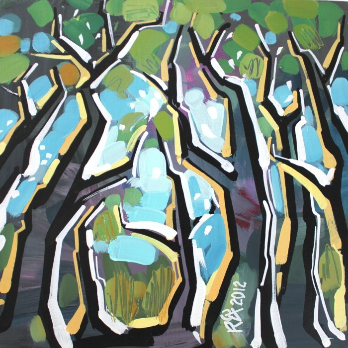"""Tree abstraction 15"" original fine art by Roger Akesson"