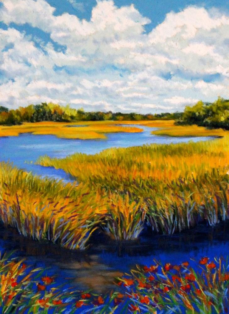 """""""October Sky"""" original fine art by Jill Bates"""