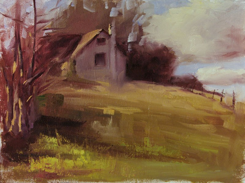 """January Plein Air"" original fine art by Lori Twiggs"