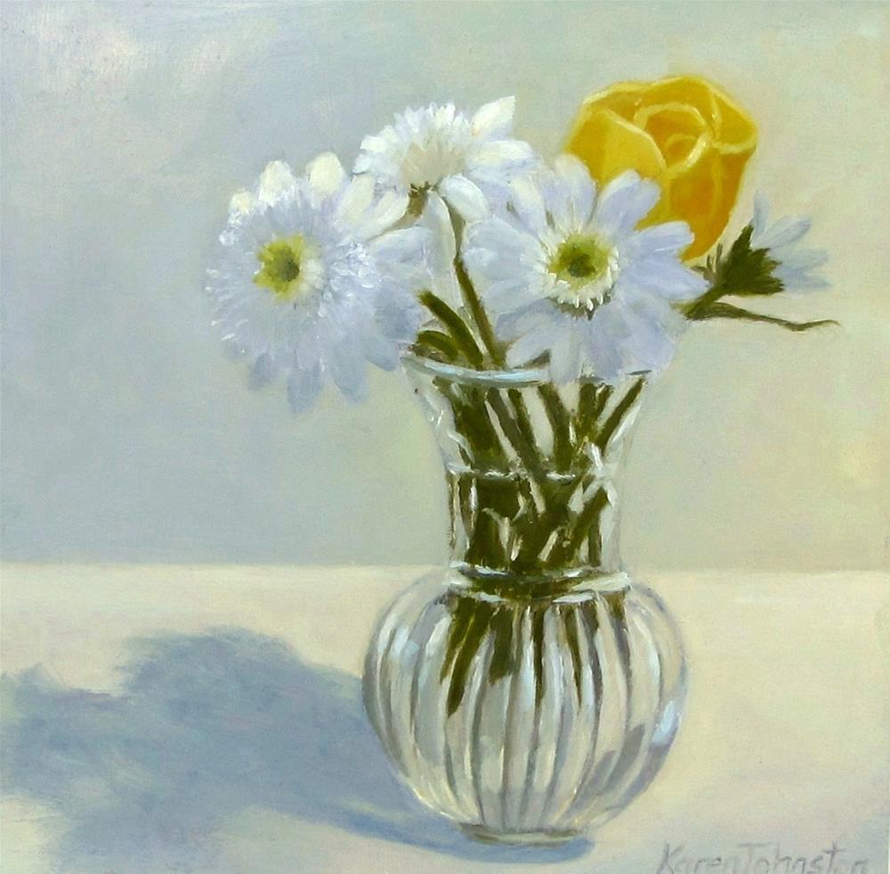 """Studio Daisies"" original fine art by Karen Johnston"