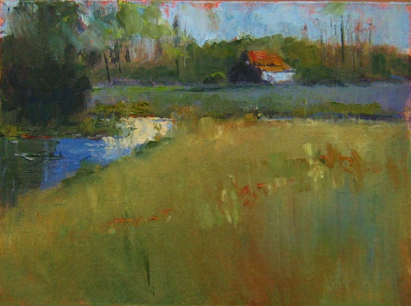 """Field and Stream"" original fine art by Connie Snipes"