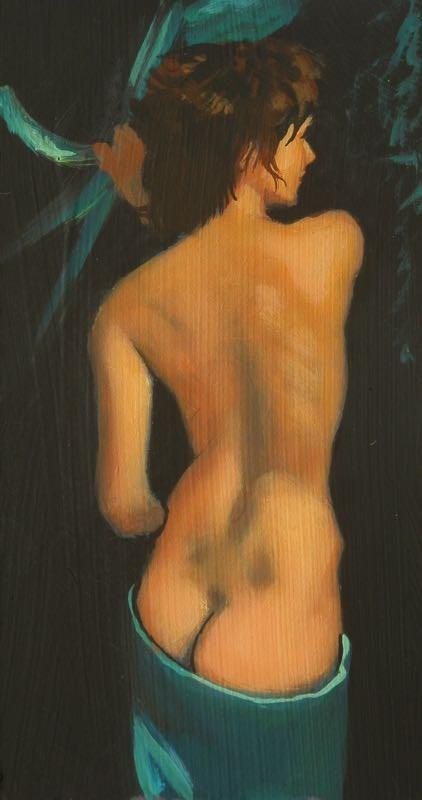 """""""Nude torso"""" original fine art by Peter Orrock"""