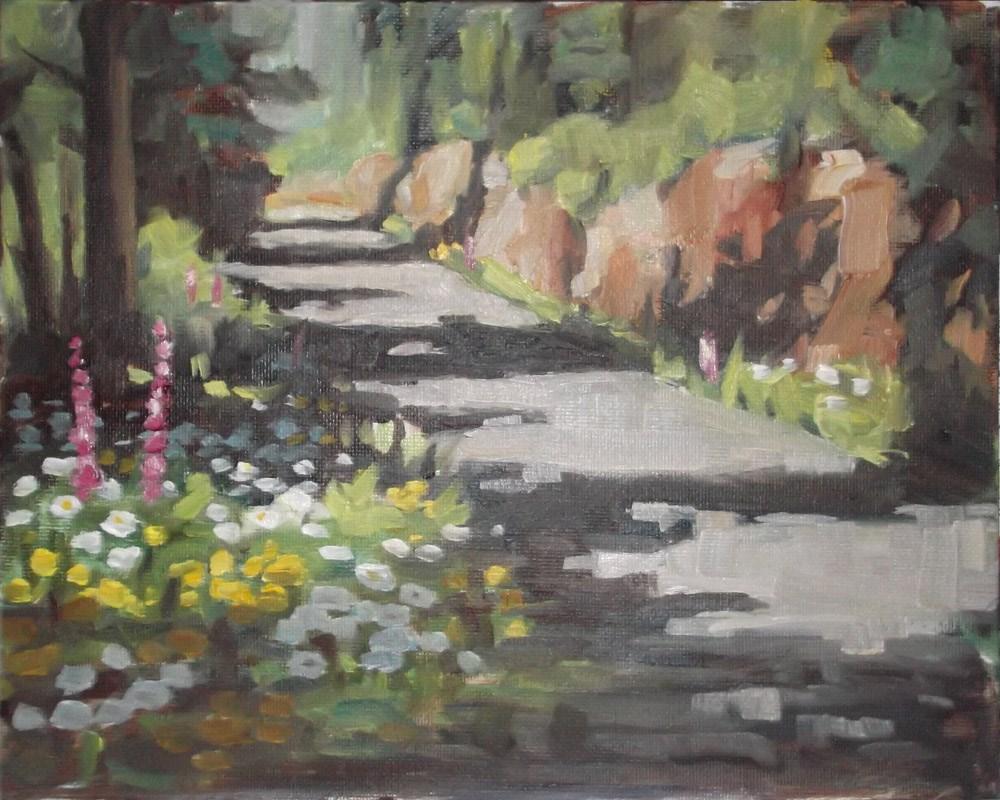 """Mountain Road"" original fine art by Karen Boe"