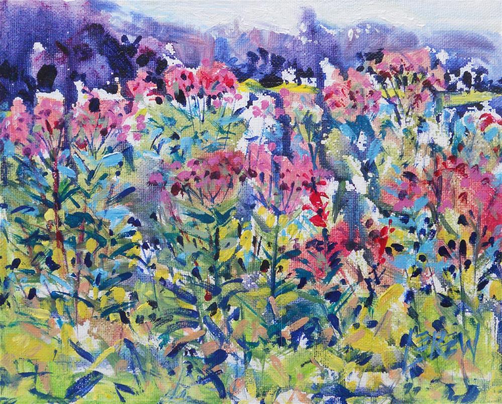"""Wildflower Explosion #120716"" original fine art by Larry Lerew"
