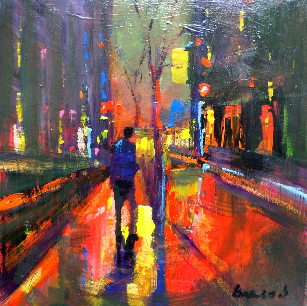"""light in the cityby night"" original fine art by salvatore greco"