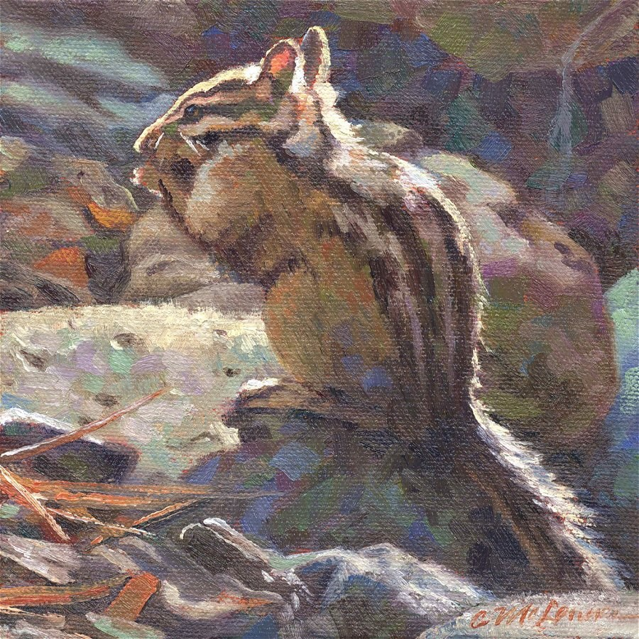 """Merriam's Chipmunk"" original fine art by Connie McLennan"