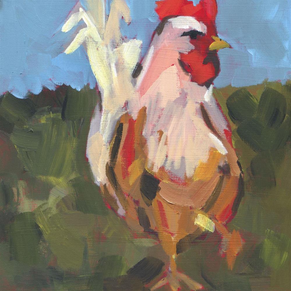 """Stepping Out in Gotha (#452)"" original fine art by Debbie Miller"
