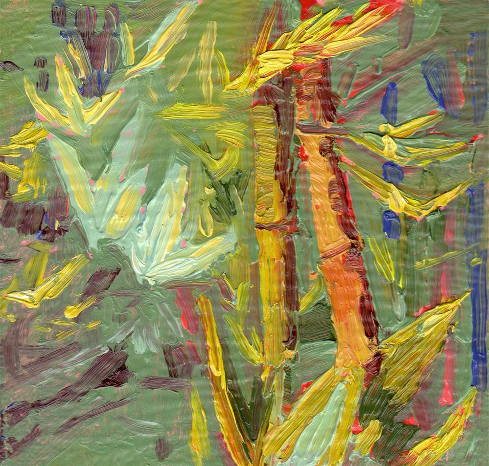 """""""BAMBOO PALETTE"""" original fine art by Karen E Lewis"""