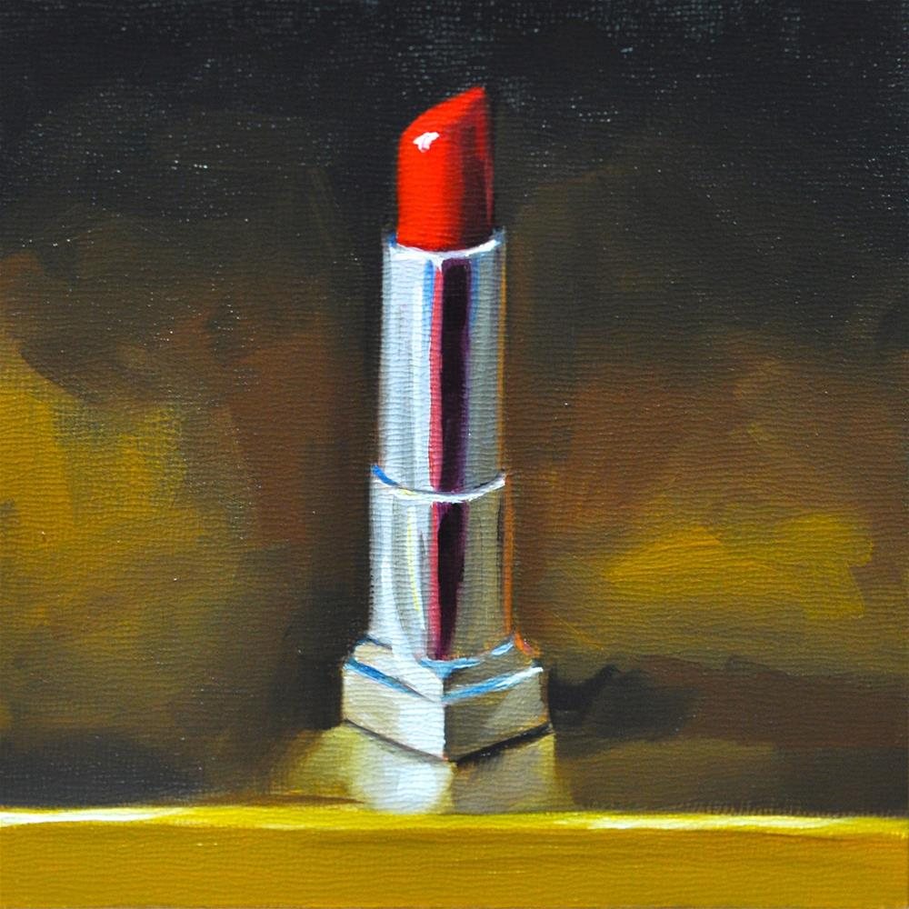 """Red Lipstick"" original fine art by Heather Bullach"