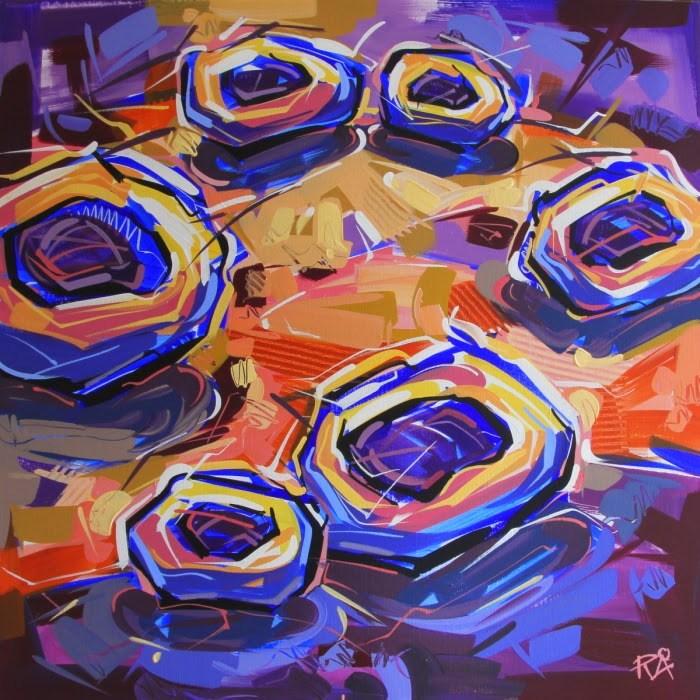 """Bird's Nest Abstraction 41"" original fine art by Roger Akesson"