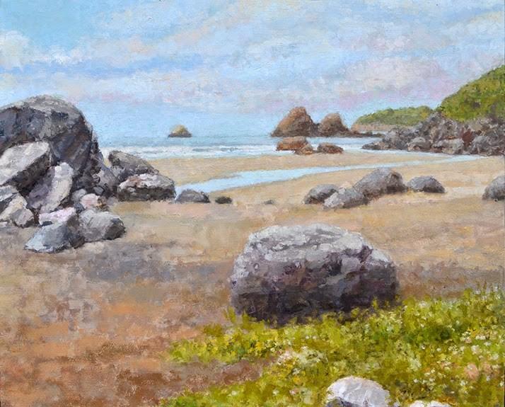 """""""Low Tide Moonstone Beach"""" original fine art by Andrew Daniel"""