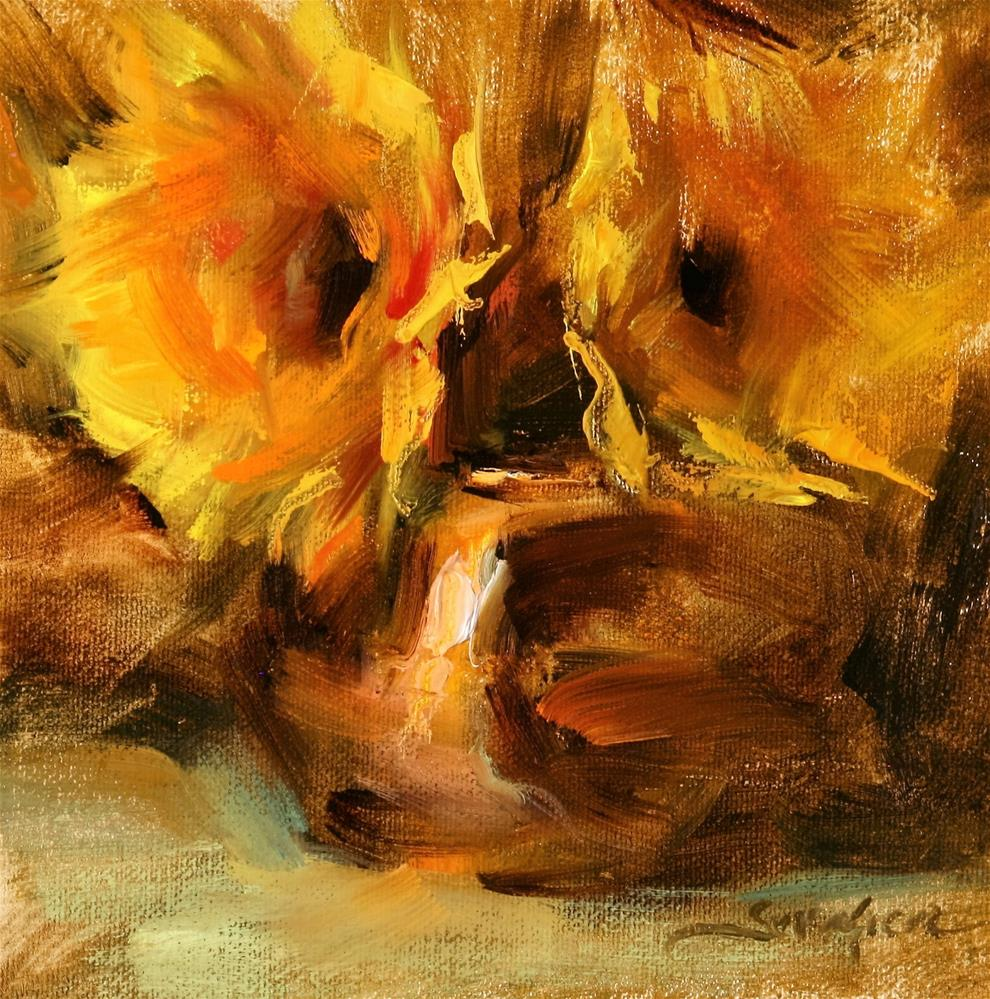 """Sunflowers and Copper"" original fine art by Scott Serafica"
