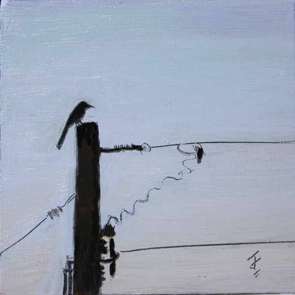 """Solitary Perch"" original fine art by Jane Frederick"
