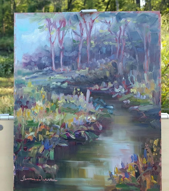 """Creekside on Cleveland Trail"" original fine art by Tammie Dickerson"