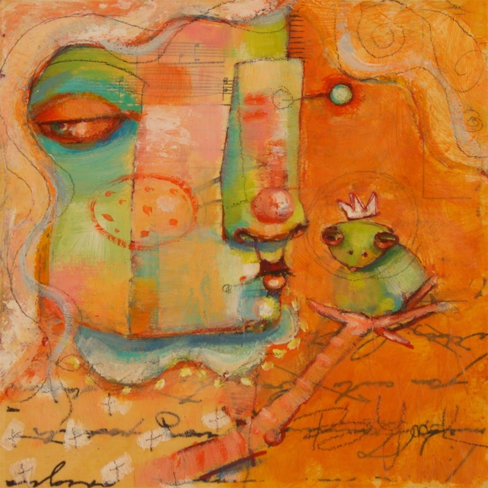 """Another Toad. Another Kiss."" original fine art by Brenda York"