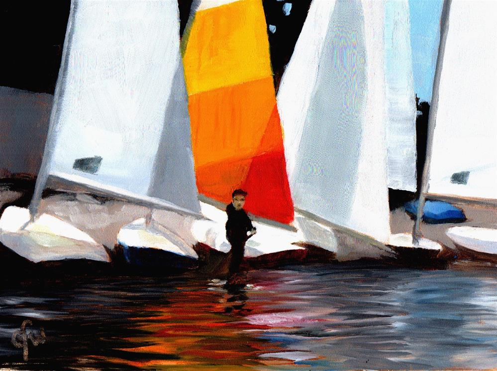 """Getting Ready for the Race"" original fine art by Gary Westlake"