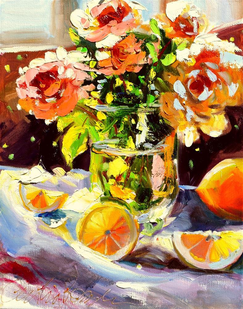 """GEPLUKTE ROSE"" original fine art by Cecilia Rosslee"