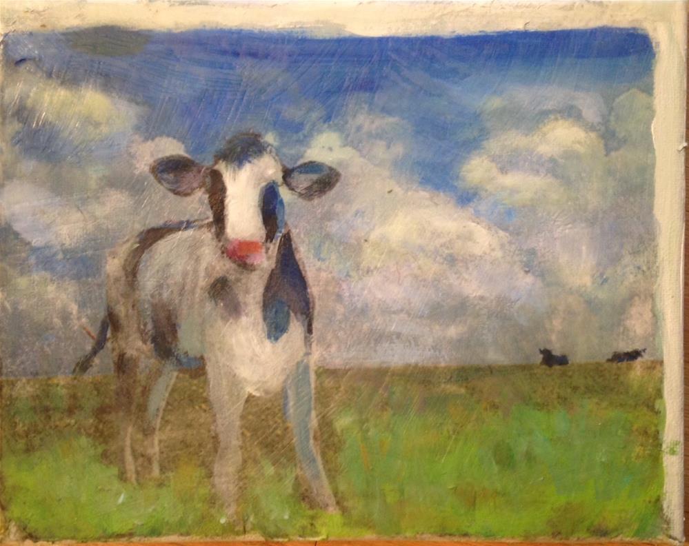 """""""Curios Calf"""" original fine art by barbara quast"""