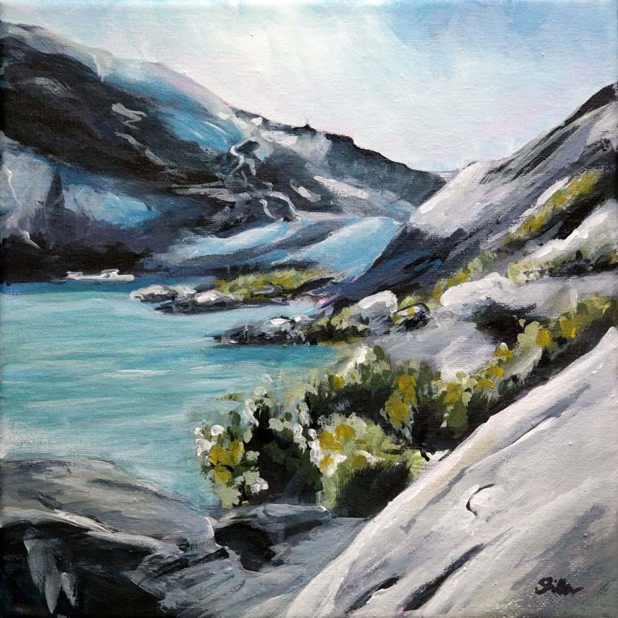 """1524 The Glacier"" original fine art by Dietmar Stiller"