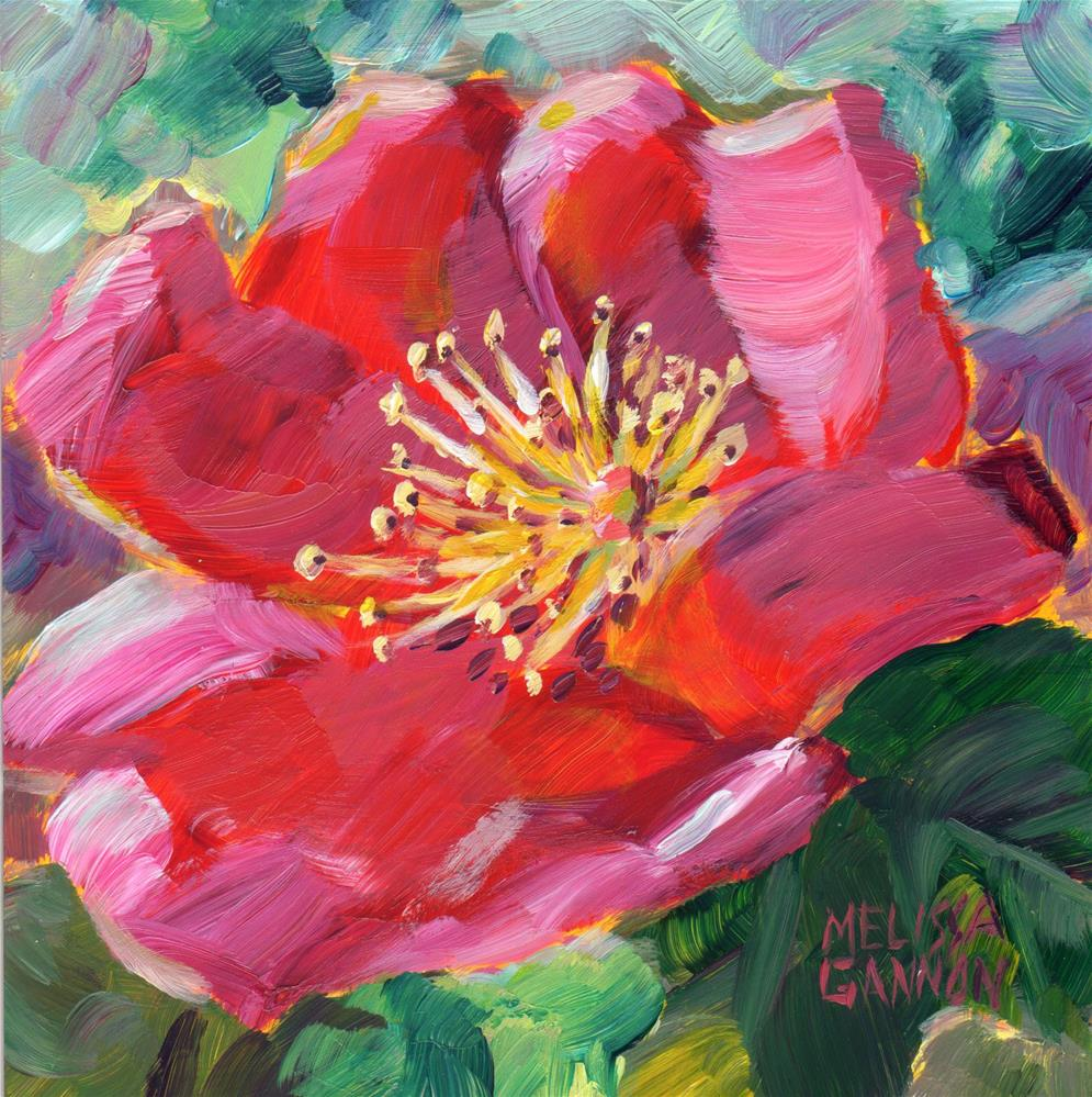 """Rose in Spring II"" original fine art by Melissa Gannon"