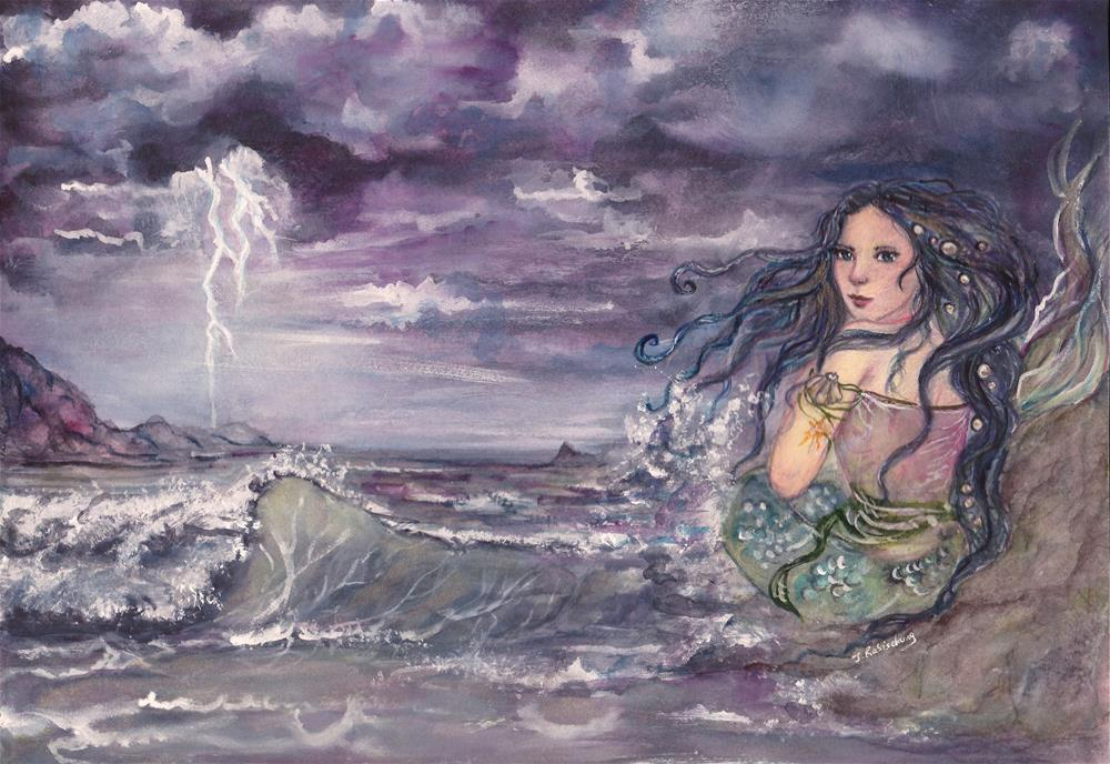 """Under the storm"" original fine art by Julie Rabischung"