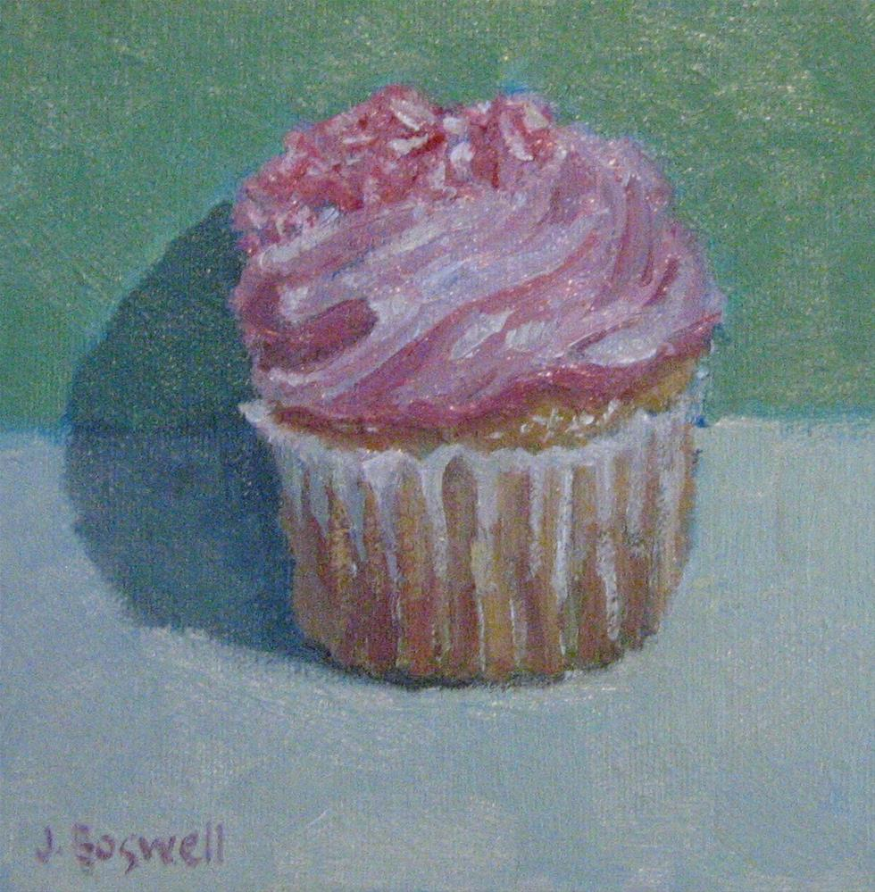 """Strawberry Cupcake"" original fine art by Jennifer Boswell"
