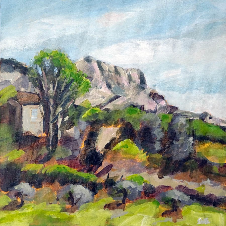 """1156 Moulin de Cézanne 2"" original fine art by Dietmar Stiller"