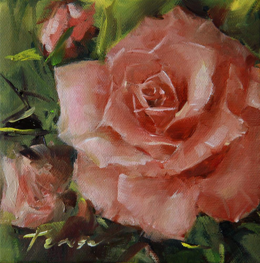 """Rose"" original fine art by Teresa Yoo"