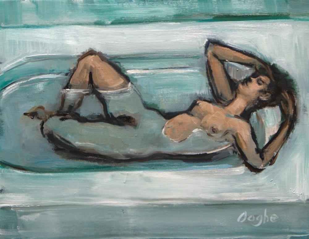 """Woman Bathing"" original fine art by Angela Ooghe"