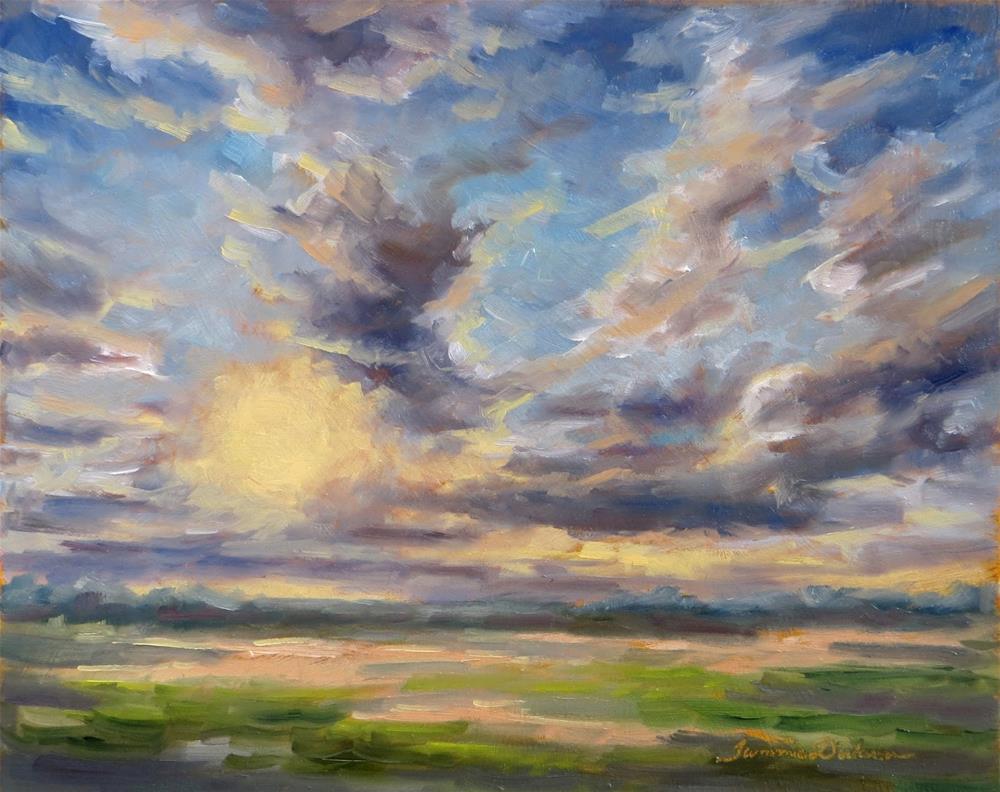 """October Sky"" original fine art by Tammie Dickerson"