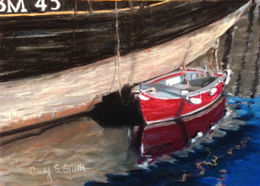 """""""Little Red"""" original fine art by Cindy Gillett"""
