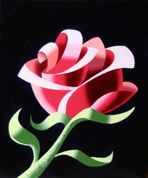 """Mark Webster - Abstract Geometric Rose #3 Still Life Painting"" original fine art by Mark Webster"