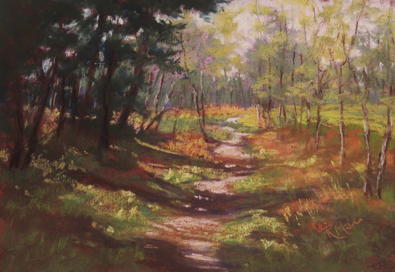 """Forest Edge"" original fine art by Ruth Mann"