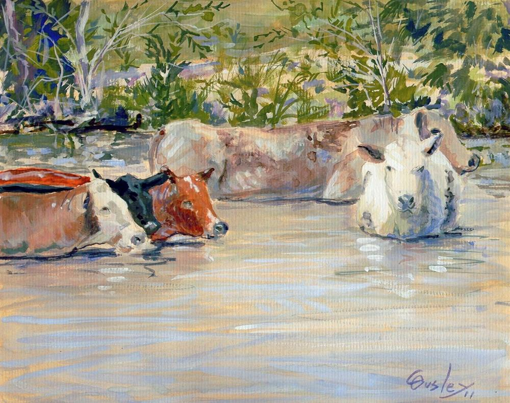 """""""Cooling Off"""" original fine art by Chris Ousley"""