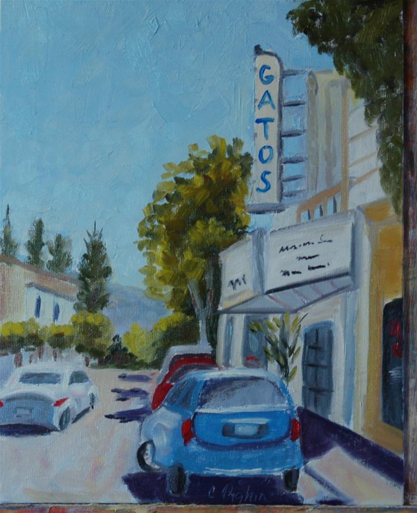 """Los Gatos Theater"" original fine art by Carol Pighin"