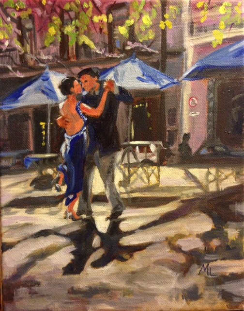 """Afternoon Tango"" original fine art by Marjie Laizure"
