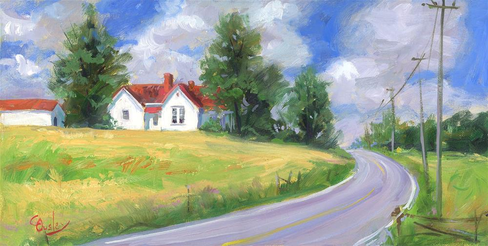 """Clovercroft Road Nolensville Tennessee"" original fine art by Chris Ousley"