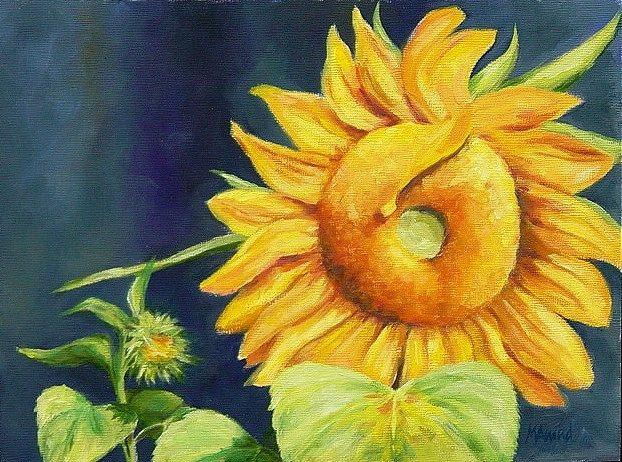 """Sunflowers"" original fine art by Maria Levandowski"