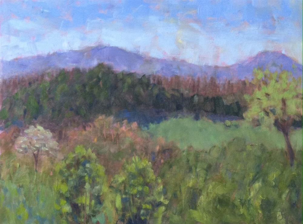 """View toward the Blue Ridge"" original fine art by Katharine March"
