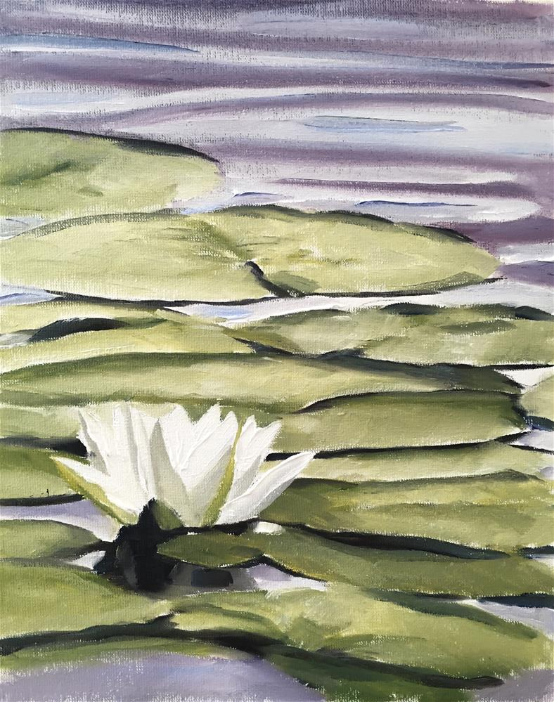 """Water Lilly"" original fine art by James Coates"
