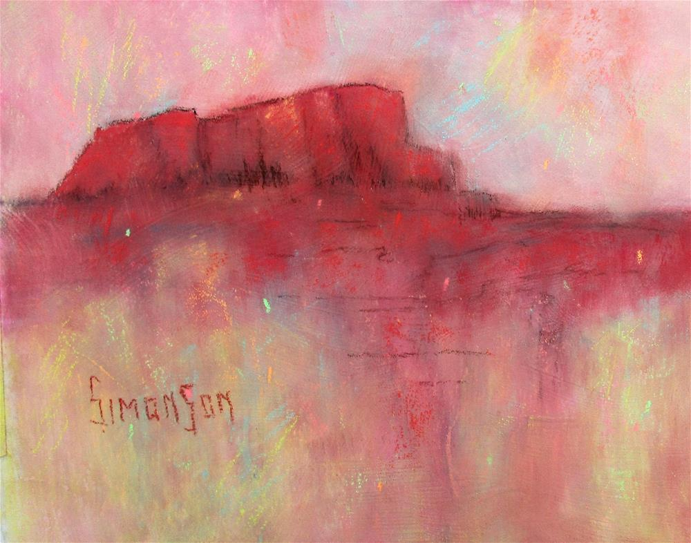 """High Desert Landmark"" original fine art by Bev Simonson"